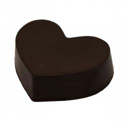 Сердце из черного шоколада