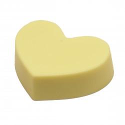 Сердце из белого шоколада