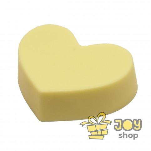 Серце з білого шоколаду