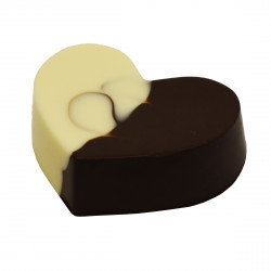 "Сердце из шоколада ""Инь-Янь"""