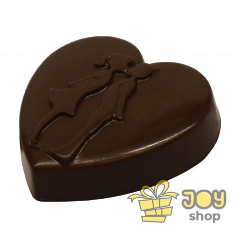 """Сердце из шоколада """"Поцелуй"""""""